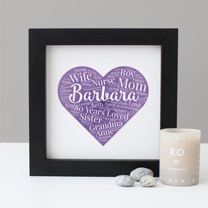 Personalised Watercolour 80th Birthday Gift