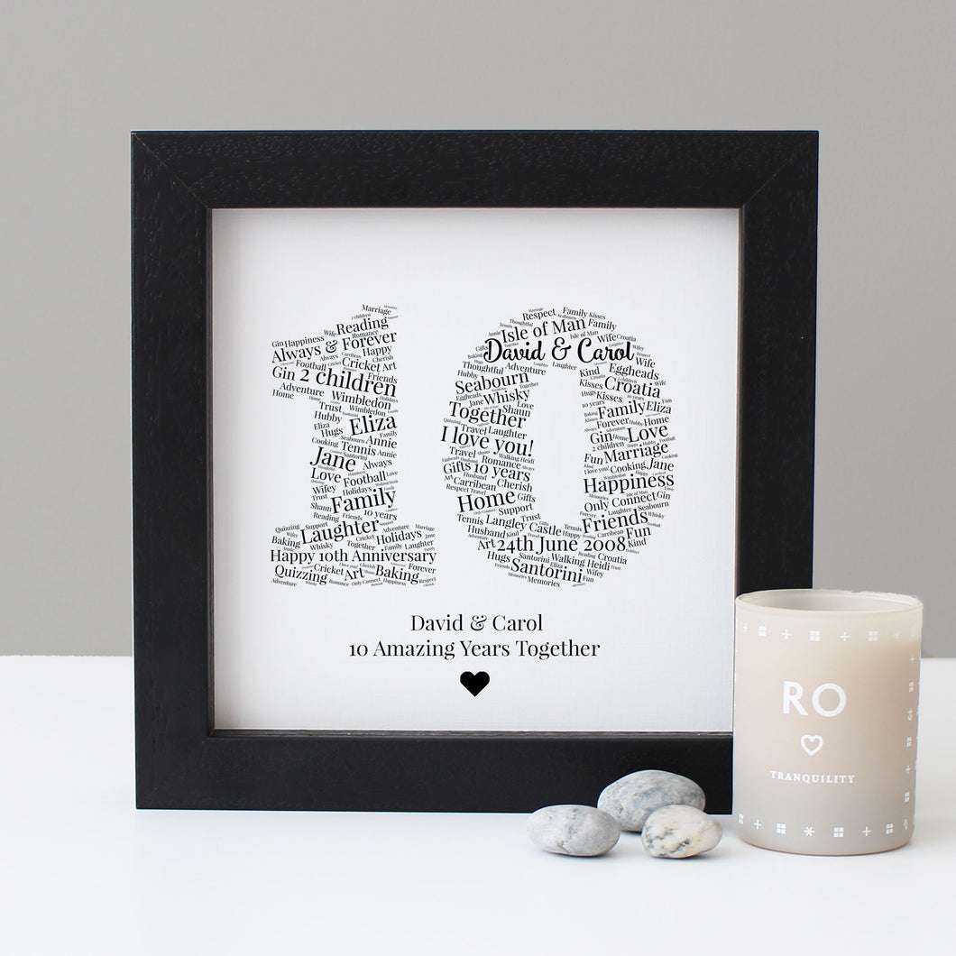 Personalised 10th Anniversary Gift