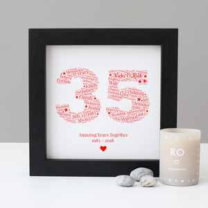 Personalised 35th Anniversary Gift