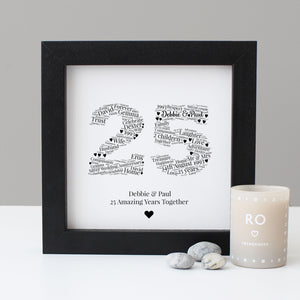 Personalised 25th 'Silver' Anniversary Gift