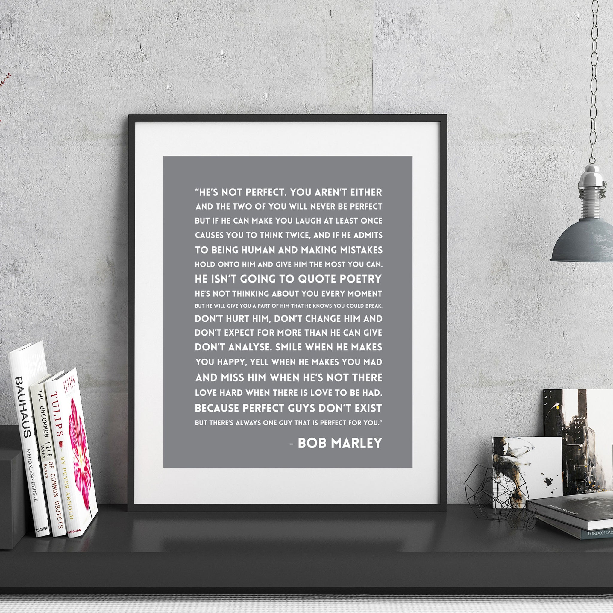 Bob Marley Hes Not Perfect Quote Print Hope Love Designs