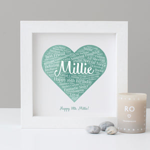 Personalised Watercolour 16th Birthday Gift
