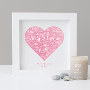 Personalised Watercolour Anniversary Gift