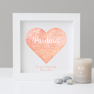 Personalised Watercolour 30th Birthday Gift