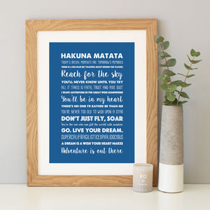 Disney Inspirational Quotes Print
