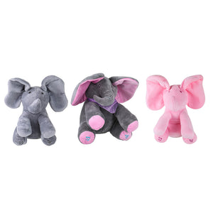 Electric Adorable Small Elephant Animated Flappy Push Doll Kids