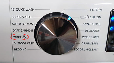 Washing machine wool cycle