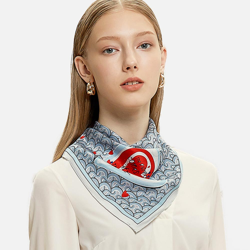 Above the Clouds Silk Scarf