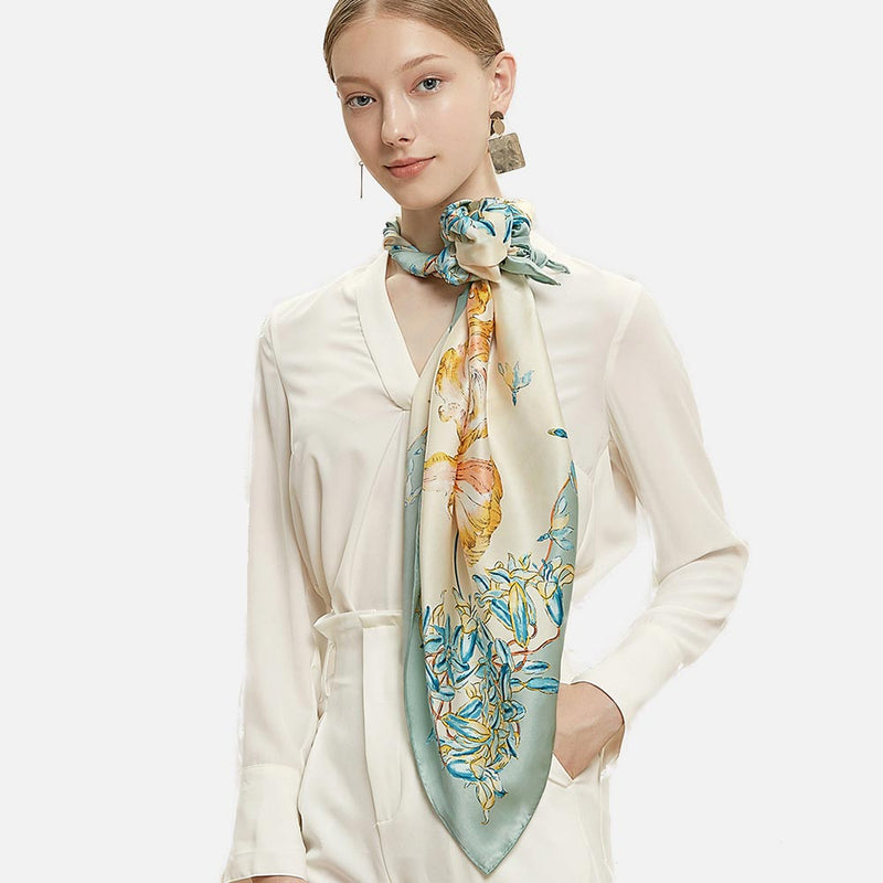 Early Spring Silk Scarf