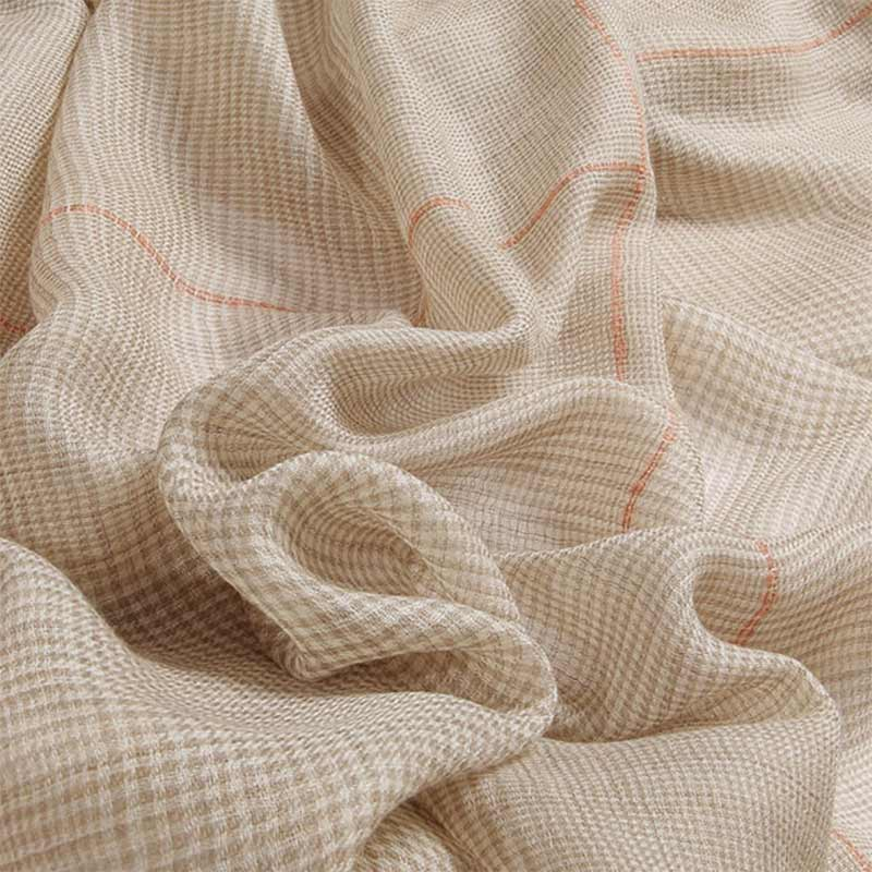 Featherlight Houndstooth Cashmere Scarf