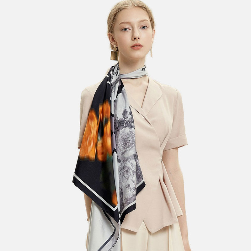Midnight Paris Silk Scarf