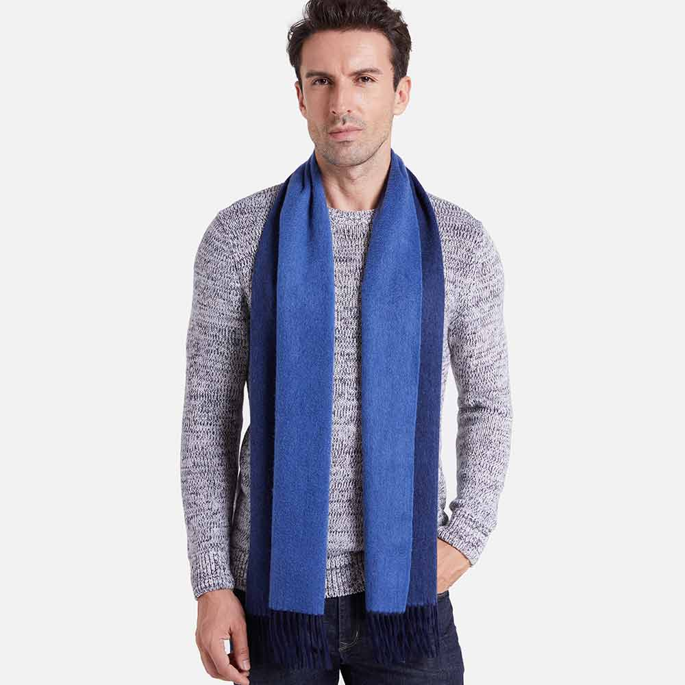 Navy Blue Mens Cashmere Scarf