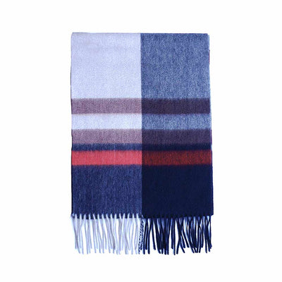 Blue Red Mens Cashmere Scarf