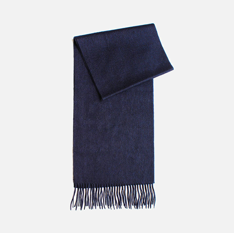 Navy Mens Cashmere Scarf