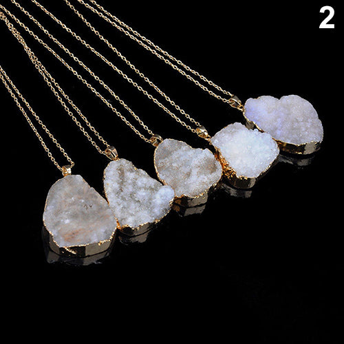 Bamboo Kitty Natural Crystal Quartz Healing Point Chakra Bead Faux Pendant Necklace