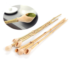 Bamboo Kitty 1Piece Super-grade Bamboo Matcha Powder Spoon Natural Bamboo Joints Gift teaset Professional Japanese Tea Ceremony Tools scoop