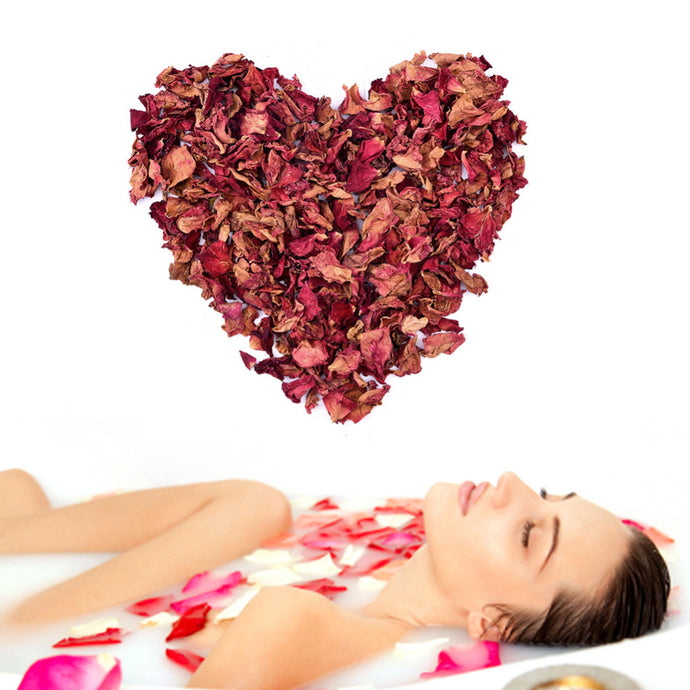 Bamboo Kitty Natural Red Rose Dried Petals Buds 100% Organic Bath Soap Spa for Shower or Bath