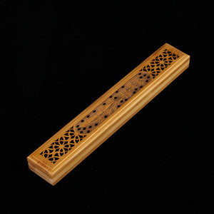Bamboo Kitty Buddha Incense Burner Handmade Bamboo Carving Joss Stick Incense Aroma Burner Incense Box Hollow Wooden Incense Burner S $