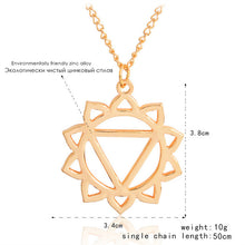 Bamboo Kitty  Yoga for 7 Chakras Pendant Necklace Hollow suspend Gold link chain for Sports Yoga lovers collar collier
