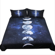 Bamboo Kitty BeddingOutlet Moon Eclipse Changing Bedding Set Galaxy Printed Quilt Cover With Pillowcases 3D Landscape Bed Set 3-Piece