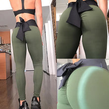 Bamboo Kitty 2018 Sexy Push Up Black Leggings Women Fashion High Waist Workout Fitness Activewear Bow Tie Slim Legging Y2582
