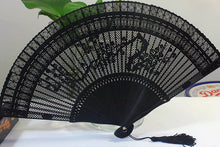 Openwork Craft Gift Chinese Fan Decorative Vintage Full Bamboo Folding Hand Fan Traditional Carved Handheld Portable Fans