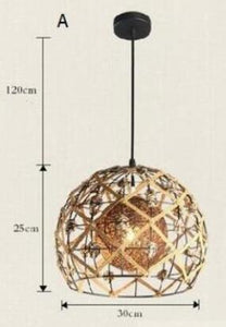 Rattan lamp Pendant Lights - hemp ball nest art lamp hand woven grass lamp house lamp