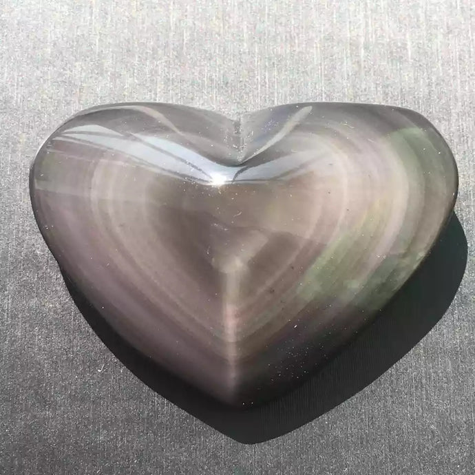 1 PCS color natural ice obsidian heart as a gift