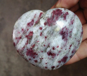 Heart-shaped natural rose quartz specimen healing stone home decoration.