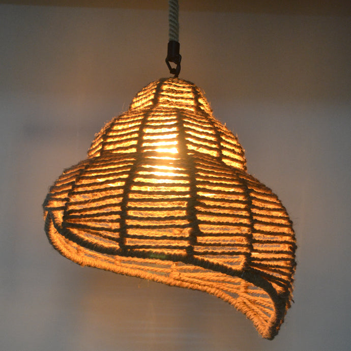 Retro industry hemp rope Pendant Lights console conch pendant lamp
