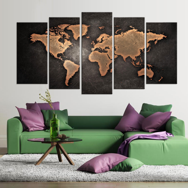 World Map HD Canvas