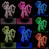 3D Unicorn Color Changing Lamp