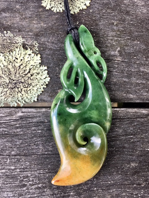 Marsden Flower Manaia, New Zealand Greenstone