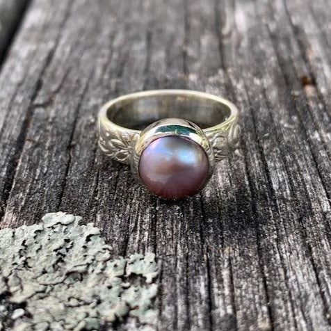 Natural Pink Pearl Ring, Rowena Watson Designs