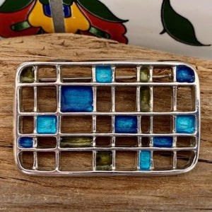 Vintage David Andersen Collectable Modernist Grid Brooch