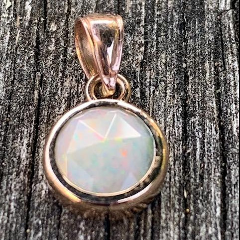 Gold Rose Cut Australian Opal, Rowena Watson Designs