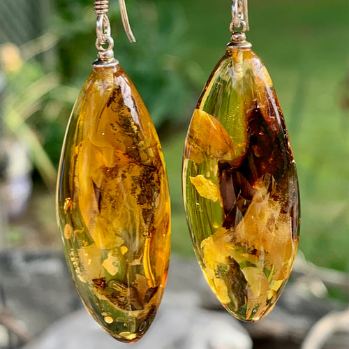 Natural Baltic Amber Drops. Rowena Watson Designs