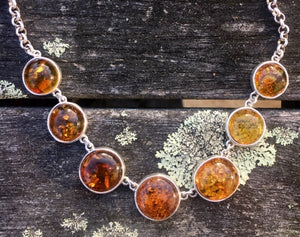 Baltic Amber Necklace, Rowena Watson Designs