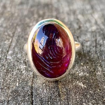 Vintage Dragon's Breath Glass Swirl Ring, Rowena Watson Designs