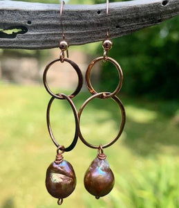 AA Natural Freshwater Pearl Earrings, Rowena Watson Designs