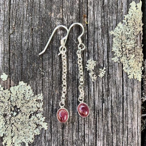 Pink Tourmaline Earrings, Rowena Watson Designs
