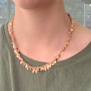 Rose Gold Fill Disc Necklace