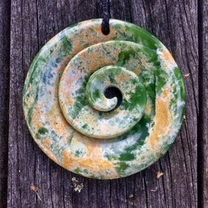 Divine Large Koru, New Zealand Greenstone
