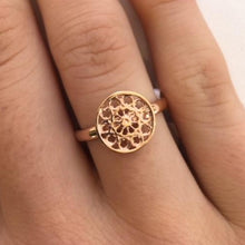 Rose Gold Rose Window Ring, Rowena Watson Designs