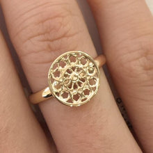 Yellow Gold Rose Window Ring, Rowena Watson Designs