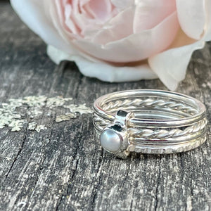 Fine Freshwater Pearl Unity Spinner Ring, Rowena Watson Designs