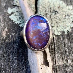 Vintage Purple Dragon's Breath Glass Ring, Rowena Watson Designs