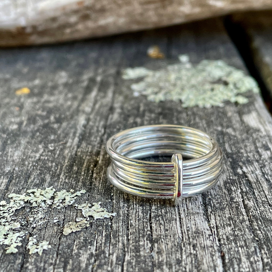 Fine Simple Sterling Silver Unity Spinner Ring, Rowena Watson Designs