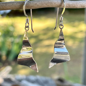 Small Corrugated Sterling Silver Earrings