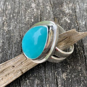 Tear Drop Amazonite Ring, Rowena Watson Designs